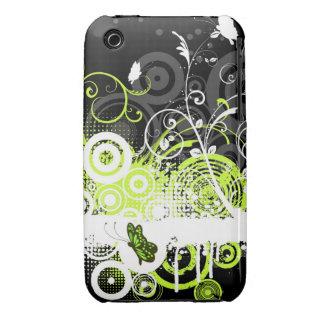 Blom- fodral för Grungedesignblackberry curve iPhone 3 Case-Mate Fodral