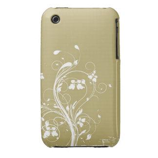 Blom- fodral för Grungedesignblackberry curve iPhone 3 Case-Mate Skydd