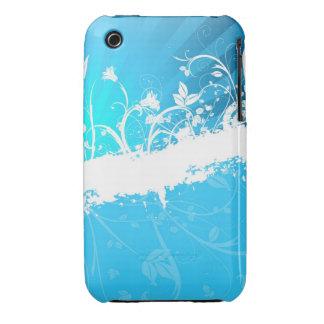 Blom- fodral för Grungedesignblackberry curve iPhone 3 Cases