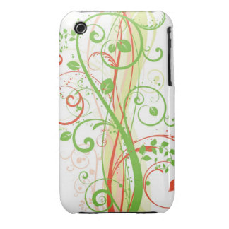 Blom- fodral för Grungedesignblackberry curve iPhone 3 Cover