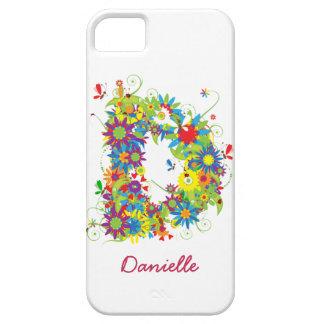 """Blom- Fodral-Kompis för iPhone 5 för Monogram """"D"""" iPhone 5 Fodral"""