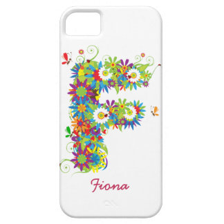 "Blom- Fodral-Kompis för iPhone 5 för Monogram ""F"" iPhone 5 Case-Mate Fodraler"