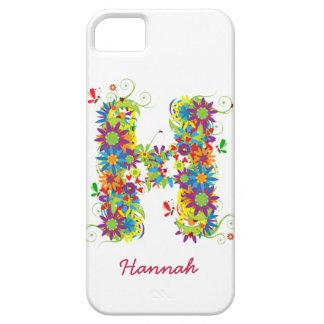 """Blom- Fodral-Kompis för iPhone 5 för Monogram """"H""""  iPhone 5 Skal"""