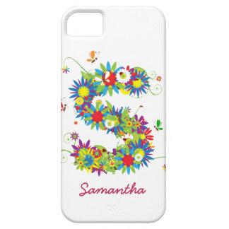 """Blom- Fodral-Kompis för iPhone 5 för Monogram """"S""""  iPhone 5 Skydd"""