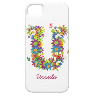 """Blom- Fodral-Kompis för iPhone 5 för Monogram """"U""""  iPhone 5 Hud"""