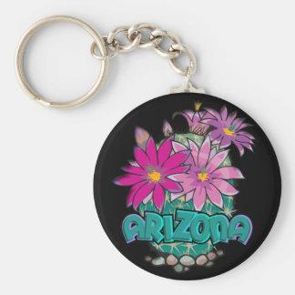 Blom för AZ-designArizona kaktus Rund Nyckelring