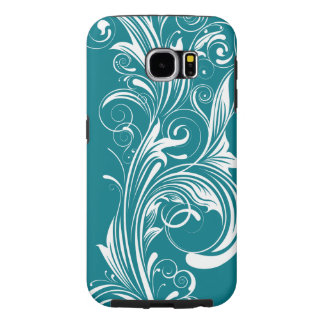 Blom- för krusidull Smartphone flickaktigt fodral Samsung Galaxy S6 Fodral