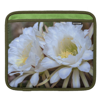 Blom för vitEchinopsis kaktus - ipad sleeve