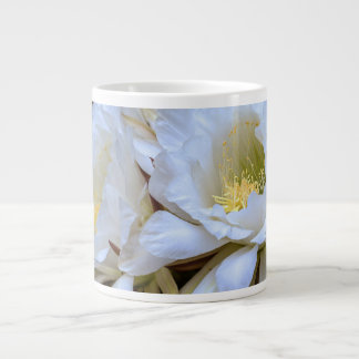 Blom för vitEchinopsis kaktus - jumbomugg Jumbo Mugg