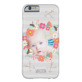 Blom- foto för nyfödd bebis för barely there iPhone 6 skal