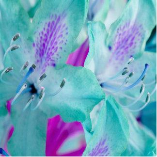 Blom- fotoskulptur för blått stående fotoskulptur