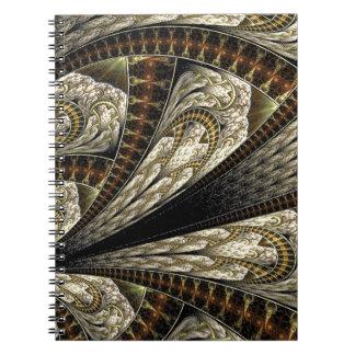 Blom- Fractal #2 Anteckningsbok Med Spiral