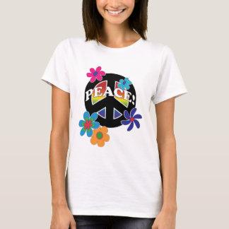 Blom- fredregnbåge för fred tshirts