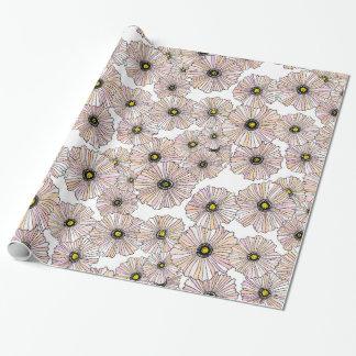 Blom- gåvasjal för pastellfärgade vallmor presentpapper
