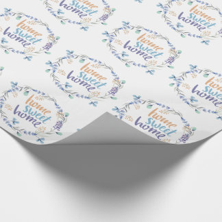 Blom- hem för sötsak för vattenfärgkranhem presentpapper