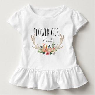 Blom- hjortHorn /Flower Girl-11 för chic Tröjor