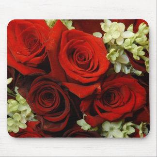 Blom i röda Mousepad Mus Mattor
