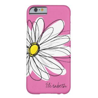 Blom- illustration för moderiktig daisy - rosagult barely there iPhone 6 fodral