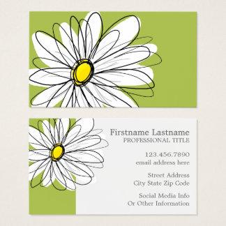 Blom- illustration för moderiktig daisy - visitkort