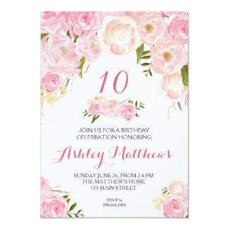 blom- inbjudan för födelsedag,
