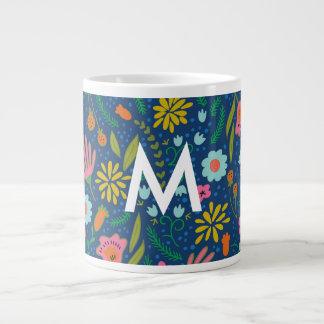 Blom- jumbomugg för initial monogram jumbo mugg