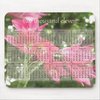 Blom- kalender Mousepad för 2011 rosor Mus Matta