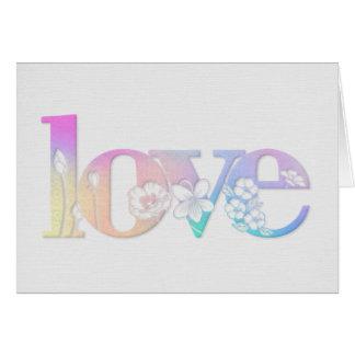 blom- kärlekdesign för bröllopsdag hälsningskort