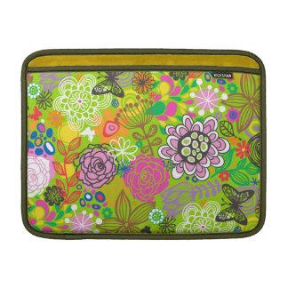 Blom- klottermönster MacBook sleeve
