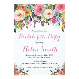 Blom- kort för Bachelorette partyinbjudan 12,7 X 17,8 Cm Inbjudningskort