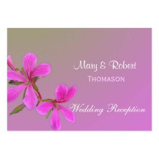blom- kort för bröllopmottagande rosa flowers visitkort mallar