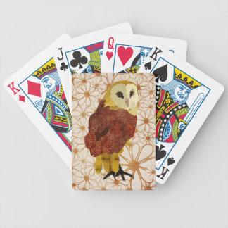 Blom- kortdäck för guld- uggla spelkort