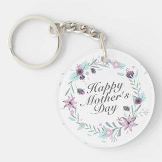 Blom- kran Keychain för elegant lycklig mors dag