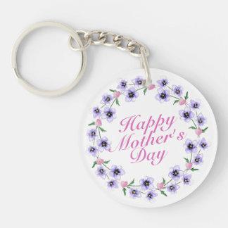 Blom- kran Keychain för enkel lycklig mors dag