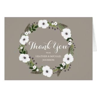 Blom- krantackkortkort - taupe OBS kort