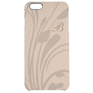 Blom- krusidull för Monogram Clear iPhone 6 Plus Skal