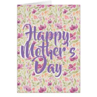 Blom- kvinnligt hälsningkort för lycklig mors dag hälsningskort