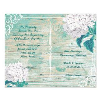 blom- lantlig bröllopsprogram  reklamblad 11,5 x 14 cm