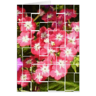 Blom- leenden hälsningskort