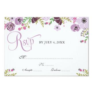 Blom- lilor för svarskort | 8,9 x 12,7 cm inbjudningskort