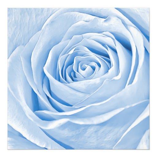 Blom- ljus fotoläckerbit - blåttro fotografiskt tryck