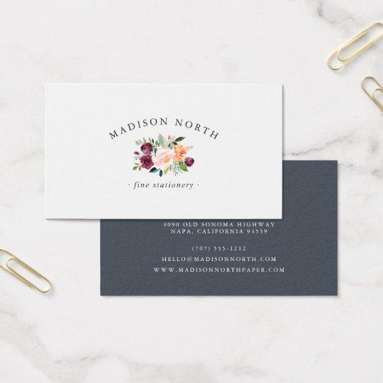 Blom- logotyp för höstblom | visitkort