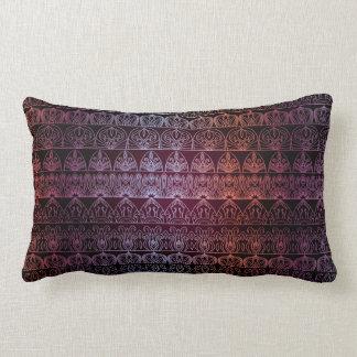 Blom- lyxigt kungligt antikt mönster lumbarkudde
