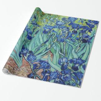 Blom- målning för vintage, Iris, Vincent Van Gogh Presentpapper