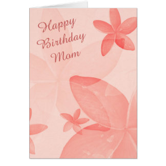 Blom- mammafödelsedag för Tangerine Hälsningskort