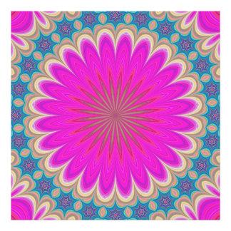 Blom- mandala fototryck