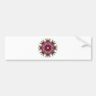 Blom- Mandalabukett för botanisk rosa lilja Bildekal
