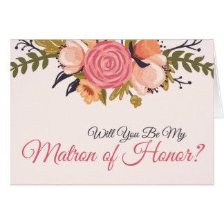 Blom- Matron av hederförfrågankortet OBS Kort