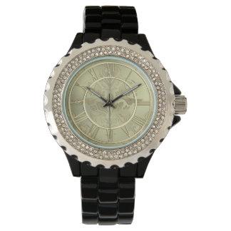 Blom- metallisk klocka för elegant gud