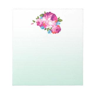 Blom- MintOmbre anteckningsblock