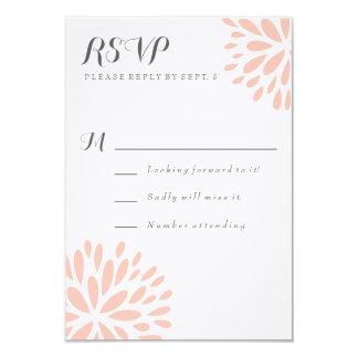 Blom- modern OSA kort för rodna blommar 8,9 X 12,7 Cm Inbjudningskort